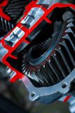 Gear close-up, gearbox Stock Photo