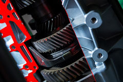 Gear close-up. Gear in motor of car close-up Royalty Free Stock Image