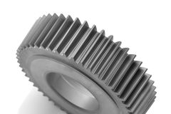 Gear closeup. Closeup of gear with white background Royalty Free Stock Photo