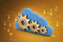 Gear and cloud Royalty Free Stock Photo