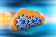 Gear and cloud Stock Image