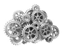 Gear Cloud On White Isolated Stock Images