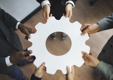 Gear Cog Corporate Collaboration Connection Teamwork Concept Royalty Free Stock Images