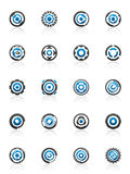 Gear and cog design elements vector illustration