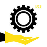 Gear or Cog Icon. Simple Gear Or Cog Wheel Vector Icon. Machine, Technology, Equipment, Engine, Mechanism Sign. Idea, Settings, Development Progress Symbol Royalty Free Stock Photo