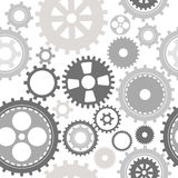 Gear cog silhouette seamless pattern Royalty Free Stock Image