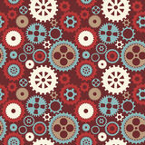 Gear cog silhouette seamless pattern Stock Photography