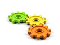 Gear cogs. Isolated on white background Stock Images