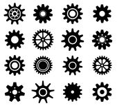 Gear cogs wheels icons set Stock Images