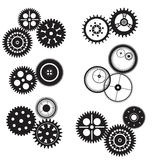 Gear and cogwheel set isolated on white Royalty Free Stock Photography