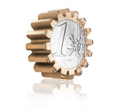 Gear coin Royalty Free Stock Image