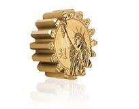 Gear coin Stock Photo