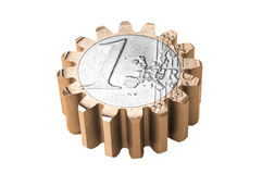 Gear coin Royalty Free Stock Photos
