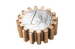 Gear coin Royalty Free Stock Photos