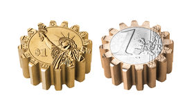 Gear coin Stock Images