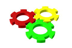 Gear color. Equipment of machines system Stock Photography