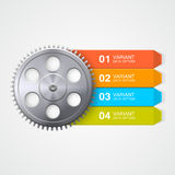 Gear color Infographics. Royalty Free Stock Photography