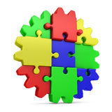 Gear  colored puzzles Royalty Free Stock Images