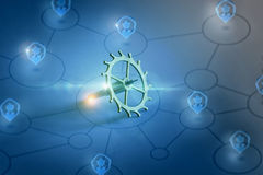 Gear configuration and network management. Royalty Free Stock Image