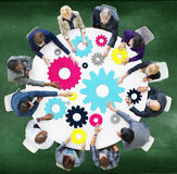 Gear Connection Corporate Team Teamwork Meeting Concept Royalty Free Stock Images