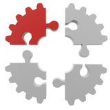 Gear consisting of puzzles Stock Photo