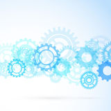 Gear contemporary mechanical background Royalty Free Stock Photo
