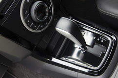 Gear control. The gear lever control that is inside the car stock photos