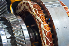 Gear and copper coil Royalty Free Stock Photo