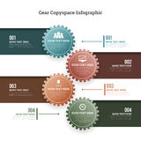Gear Copyspace Infographic Stock Images