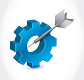 Gear and dart illustration design Royalty Free Stock Images