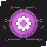 Gear digital color icon Stock Photo