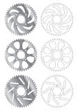 Gear disc vector. Gear discs of different shapes royalty free illustration