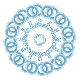 Gear Dotted Blue Rings Circular Royalty Free Stock Photo