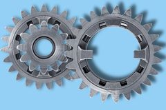 Gear Drive. Drive gears with path Vector Illustration