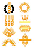Gear&ears. A few ornamental  illustrations of ears and gear Royalty Free Stock Photography