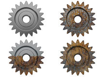 Gear the engine various degrees Royalty Free Stock Photo