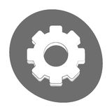 Gear engineer work cooperation icon color Royalty Free Stock Photo