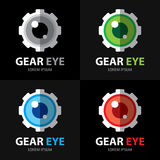 Gear eye symbol icon Royalty Free Stock Images
