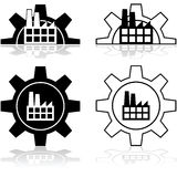 Gear and factory stock illustration