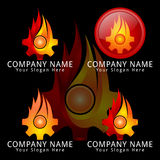 Gear Fire Mechanic Concept Logo Royalty Free Stock Photo