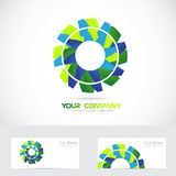 Gear or flower logo Royalty Free Stock Images