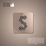 Gear in the form of dollar. Made in vector Royalty Free Stock Photos