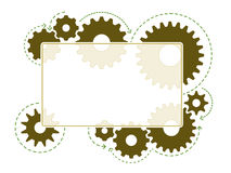 Gear frame Royalty Free Stock Photo
