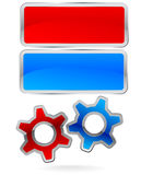Gear frame set Royalty Free Stock Photo