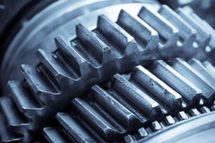 Gear in gearbox Stock Images