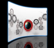 Gear with globe Stock Images