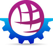 Gear globe. A vector drawing represents gear globe design Royalty Free Stock Image