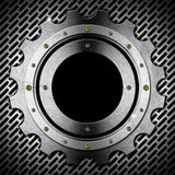 Gear - Gray Metal Porthole Royalty Free Stock Photography