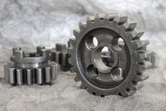 Gear on grey Stock Photo