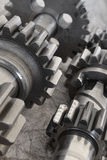 Gear on grey Royalty Free Stock Image